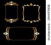 set of golden frame isolated on ... | Shutterstock .eps vector #184495808