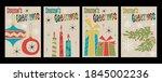 season's greetings christmas... | Shutterstock .eps vector #1845002236