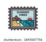vintage summer vibes logo ... | Shutterstock .eps vector #1845007756
