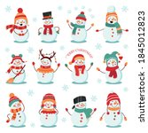 Snowman Winter Holidays Set....