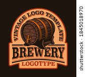 a vintage emblem for a beer... | Shutterstock .eps vector #1845018970