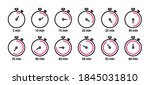 set of stopwatch line icons....