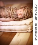 portrait of sweet newborn baby... | Shutterstock . vector #184504160