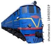 Blue Locomotive In Perspective...