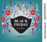 black friday sale vector...   Shutterstock .eps vector #1845055909