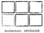 grunge frame set texture.... | Shutterstock .eps vector #184506308