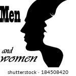 face man and woman | Shutterstock .eps vector #184508420