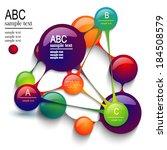 vector abstract circles... | Shutterstock .eps vector #184508579