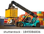 Reach Stacker Transport Cargo...