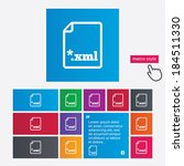 file document icon. download... | Shutterstock .eps vector #184511330