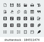 Vector Text Editor Mini Icons...
