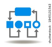 workflow flowchart icon vector. ... | Shutterstock .eps vector #1845131563