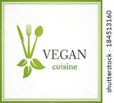 vector illustration of a vegan...   Shutterstock .eps vector #184513160