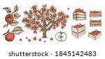 full crate wooden crate of... | Shutterstock .eps vector #1845142483