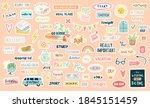 funny cute vector planning... | Shutterstock .eps vector #1845151459