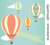 hot air balloons in the sky.... | Shutterstock . vector #184516490