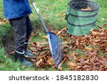 Child With Rake  Leaves  Rubber ...