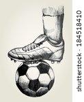 sketch illustration of a soccer ... | Shutterstock . vector #184518410
