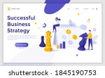 landing page template with...   Shutterstock .eps vector #1845190753