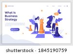 landing page template with man... | Shutterstock .eps vector #1845190759