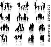 family silhouettes  | Shutterstock .eps vector #184521806