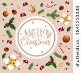 christmas realistic vector... | Shutterstock .eps vector #1845253333
