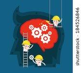 teamwork concept | Shutterstock .eps vector #184526846