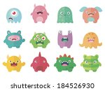 funny colored characters v.2 | Shutterstock .eps vector #184526930