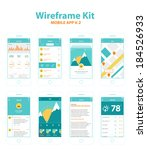 wireframe kit mobile app v.2
