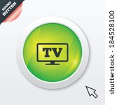 widescreen tv sign icon....