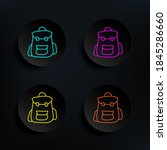 backpack sketch dark badge...