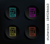 calculator sketch dark badge...