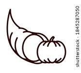 Autumn Cornucopia Pumpkin...