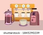 coffee brewing methods ... | Shutterstock .eps vector #1845290239
