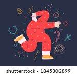 dancing santa   christmas and... | Shutterstock .eps vector #1845302899