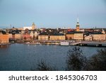 scenic panorama of the old town ... | Shutterstock . vector #1845306703