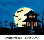 halloween night theme  vector... | Shutterstock . vector #18453097