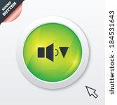 speaker low volume sign icon....