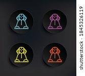 sphinx dark badge color set... | Shutterstock .eps vector #1845326119