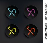 crook dark badge color set icon....