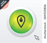 map pointer user sign icon....