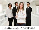 image of businesswoman leader... | Shutterstock . vector #184535663