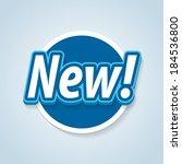 new label. vector eps 10. | Shutterstock .eps vector #184536800