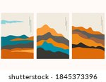 japanese background with hand... | Shutterstock .eps vector #1845373396
