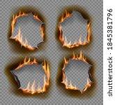 burning holes  vector burn... | Shutterstock .eps vector #1845381796