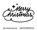 merry christmas text font... | Shutterstock .eps vector #1845385810