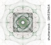 abstract greenish fractal shape ... | Shutterstock . vector #184539614