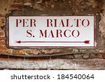 Directional Sign To San Marco...