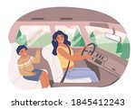 happy mother with her son...   Shutterstock .eps vector #1845412243