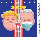 donald trump and joe biden... | Shutterstock .eps vector #1845416863